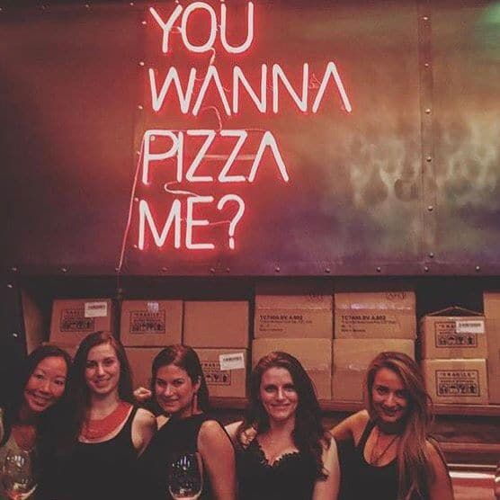 YOU WANNA PIZZA ME neon sign