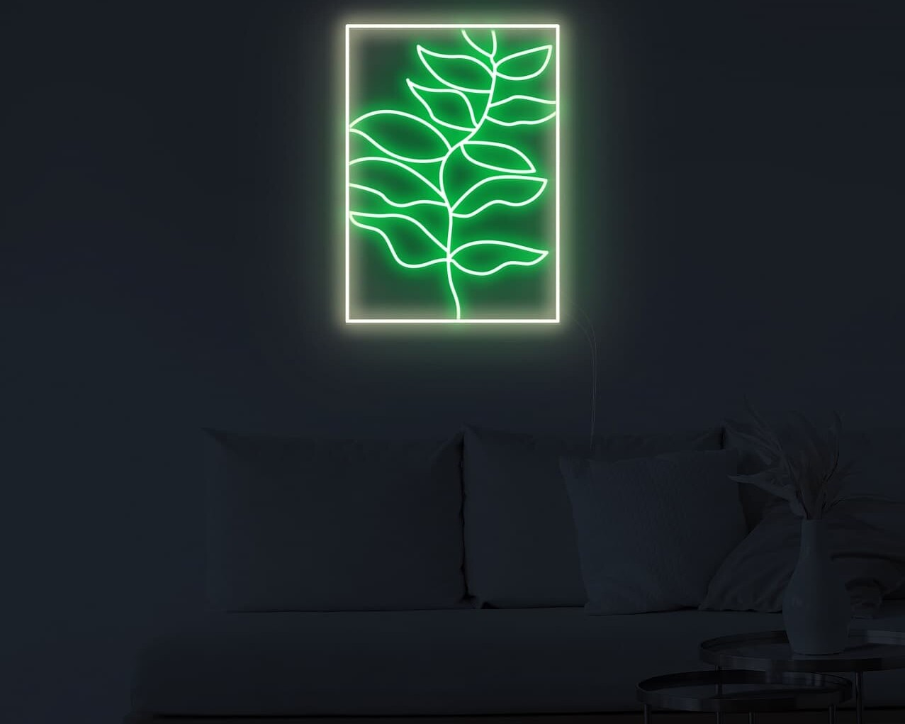 Leaf Painting Neon Sign