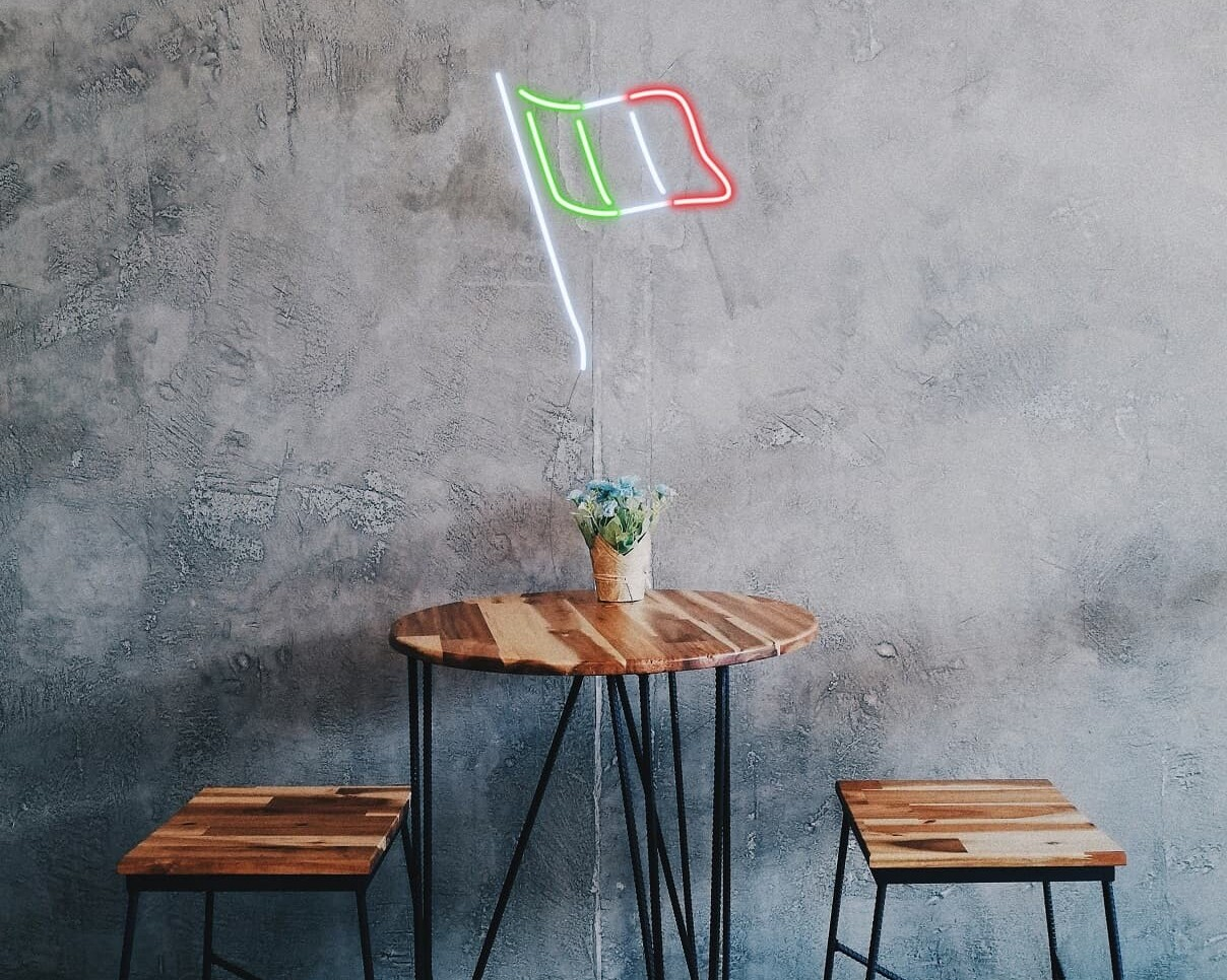 Flag of Italy Neon Sign